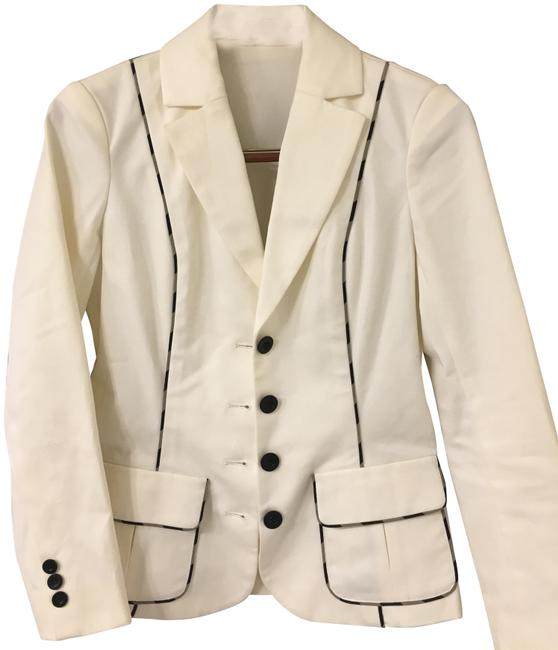 Preload https://img-static.tradesy.com/item/24331530/diane-von-furstenberg-ecru-with-black-and-beige-trim-cody-blazer-size-4-s-0-3-650-650.jpg