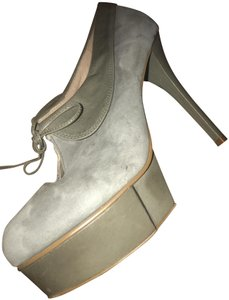 Jeffrey Campbell Party Stiletto Festival Suede Grey Platforms