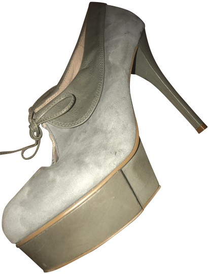 Jeffrey Campbell Party Stiletto Festival Suede Grey Platforms Image 0