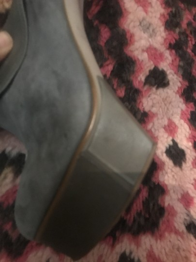 Jeffrey Campbell Party Stiletto Festival Suede Grey Platforms Image 3