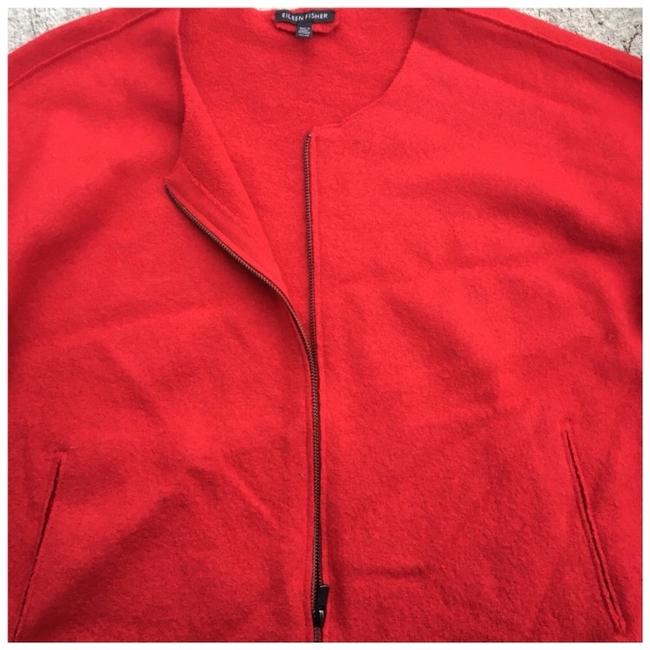 Eileen Fisher Red Jacket Image 3