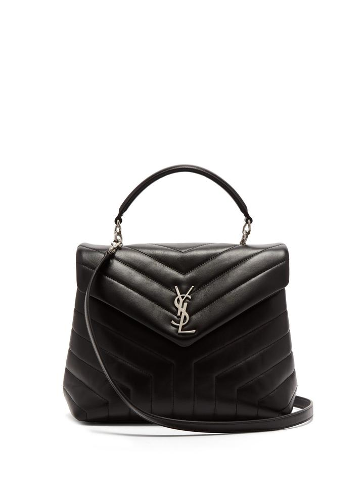 fa3ab2f200 Saint Laurent Monogram Loulou Ysl Quilted-leather Shoulder Black ...