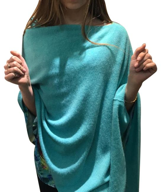 Item - Turquoise And Cashmere Poncho/Cape Size 4 (S)