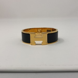 Hermès Clic Clac Black and Gold