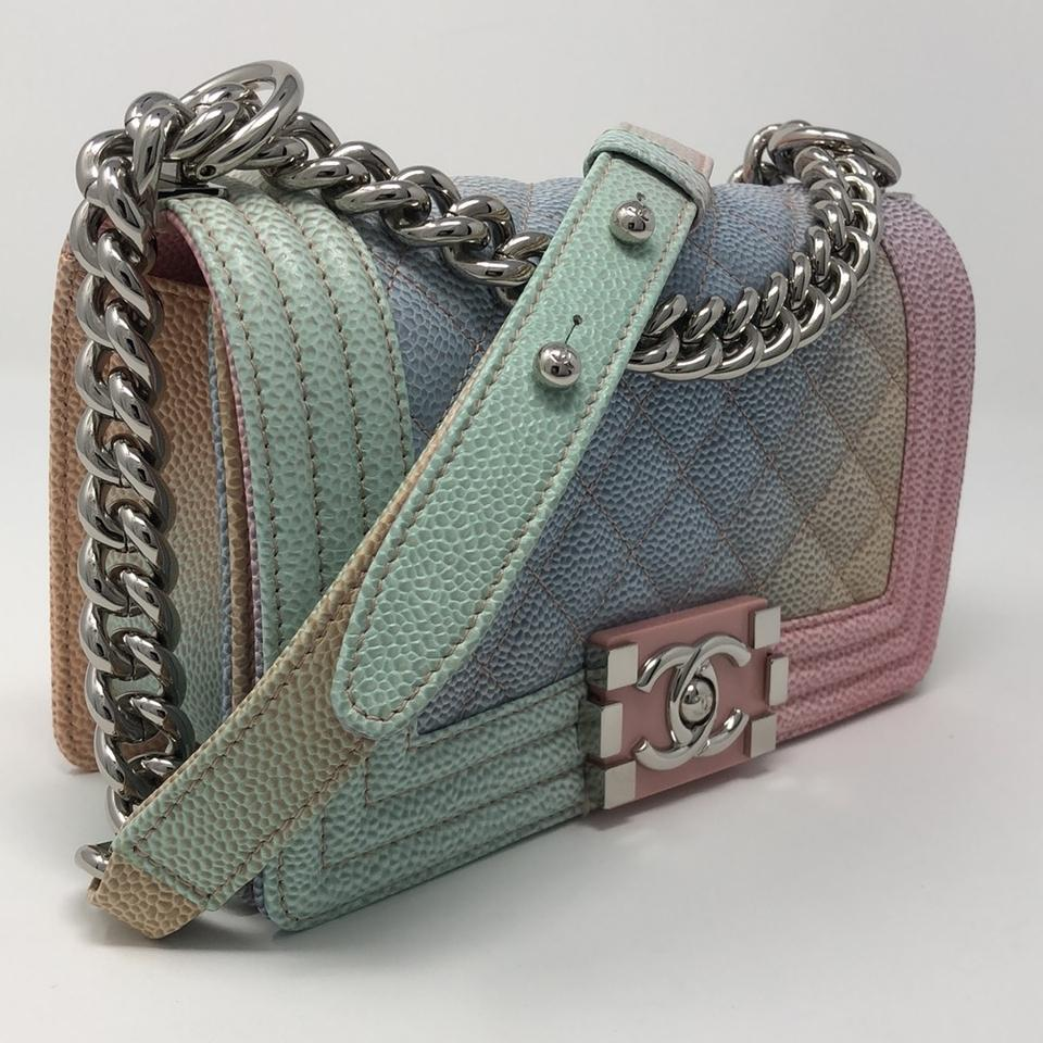 5c925db96b7f Chanel Boy Le Rainbow 18p Pastel Pink Caviar Cross Body Bag - Tradesy