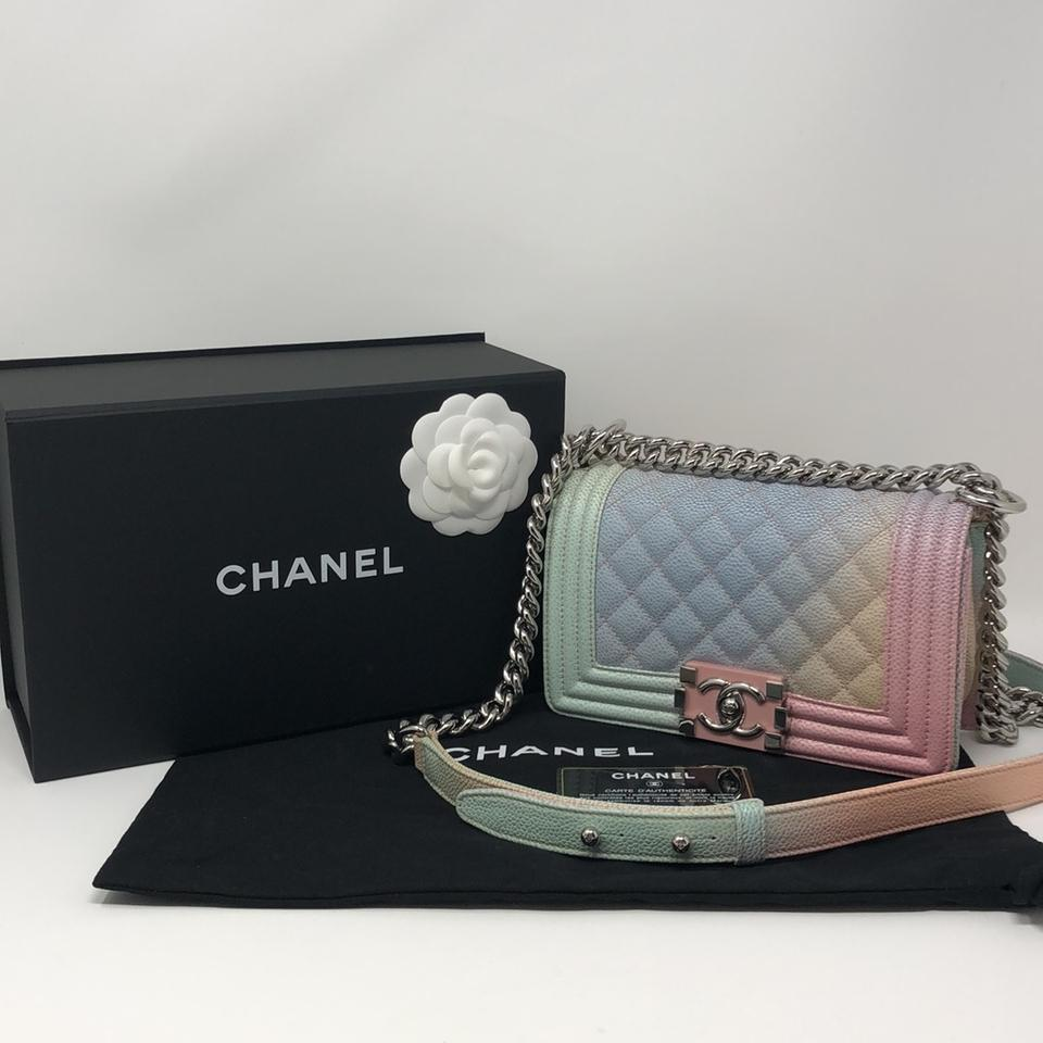ced6d46aa781 Chanel Rainbow Caviar Boy Caviar Caviar Boy Cross Body Bag Image 11.  123456789101112