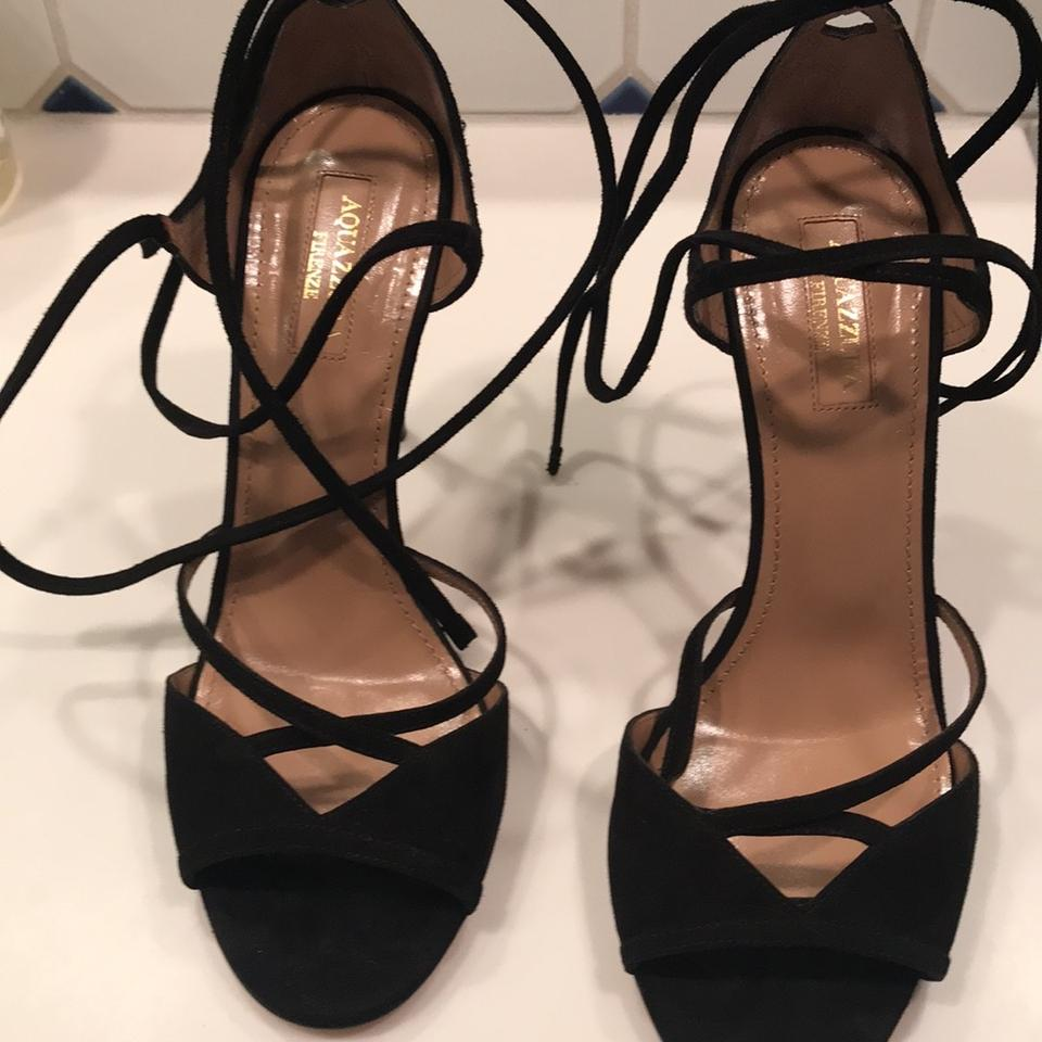 e19434e4812 Aquazzura Strappy Stillettos Stiletto black suede Formal Image 11.  123456789101112
