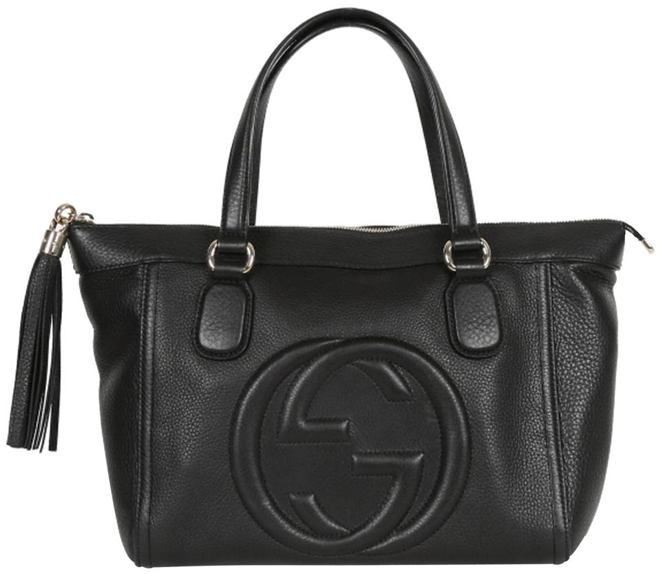 07a628277f90fd Gucci Gg Monogram Soho Leather Tote in Black Image 0 ...