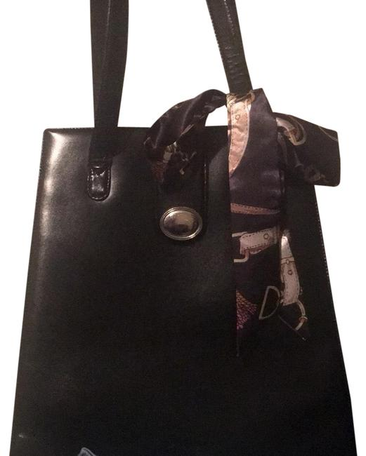 Item - Classic Black Sterling Silver Leather .925 Satchel