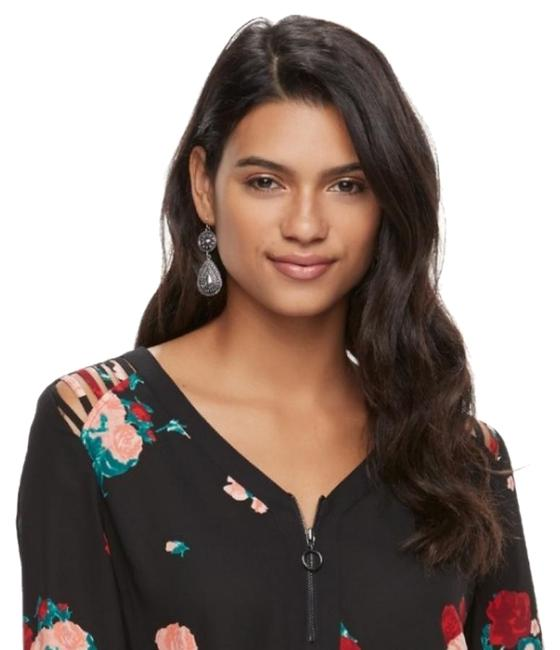 Preload https://img-static.tradesy.com/item/24332153/candie-s-black-with-red-pink-and-a-nice-dark-green-jz73w021rp-blouse-size-6-s-0-1-650-650.jpg