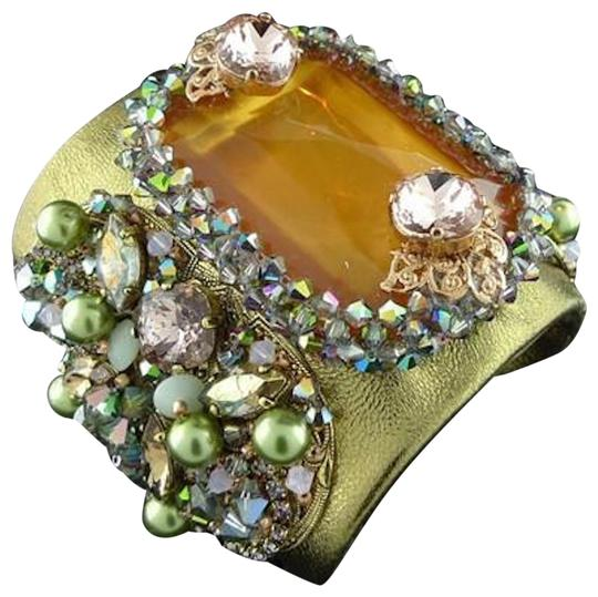Preload https://img-static.tradesy.com/item/24332199/erickson-beamon-gold-with-apricot-and-soft-greens-xanadu-cuff-stone-pearls-lav-bracelet-0-3-540-540.jpg