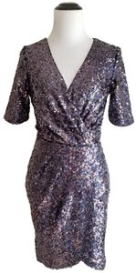 French Connection Sequin Metallic Dress