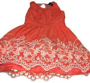 Rue 21 short dress orange and white on Tradesy