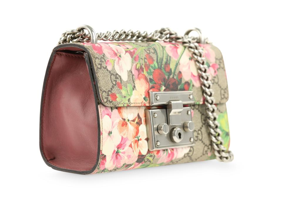ab6fdf5fe3d9 Gucci Padlock Small Gg Blooms Multicolor Coated Canvas Shoulder Bag -  Tradesy
