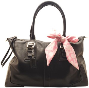 Coach Leather Vintage Handbag Satchel in black