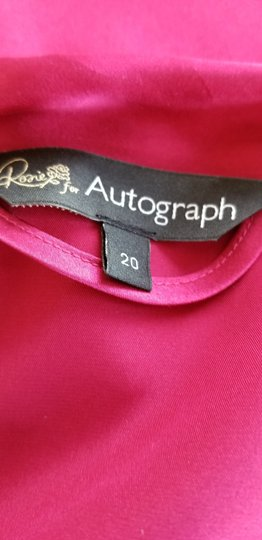 Marks & Spencer Rosie for Autograph WIne Satin and Lace Robe Image 1