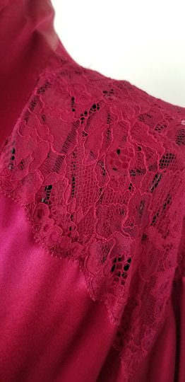 Marks & Spencer Rosie for Autograph WIne Satin and Lace Robe Image 4