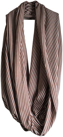 Preload https://img-static.tradesy.com/item/24332450/american-apparel-striped-brown-and-white-the-unisex-circle-scarfwrap-0-3-540-540.jpg