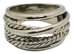 David Yurman David Yurman silver crossover ring