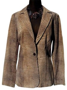 Cache Brown Beige Blazer