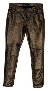 7 For All Mankind Metallic Skinny Jeans-Coated