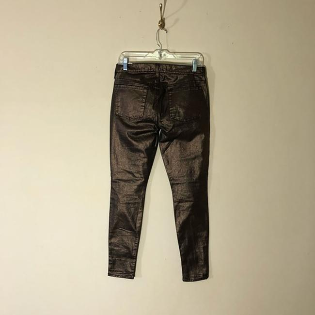 7 For All Mankind Metallic Skinny Jeans-Coated Image 2