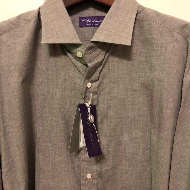 Polo Ralph Lauren Purple Label Mens Keaton Dress Shirt Italy Gray Size 17.5 Top gray Image 1