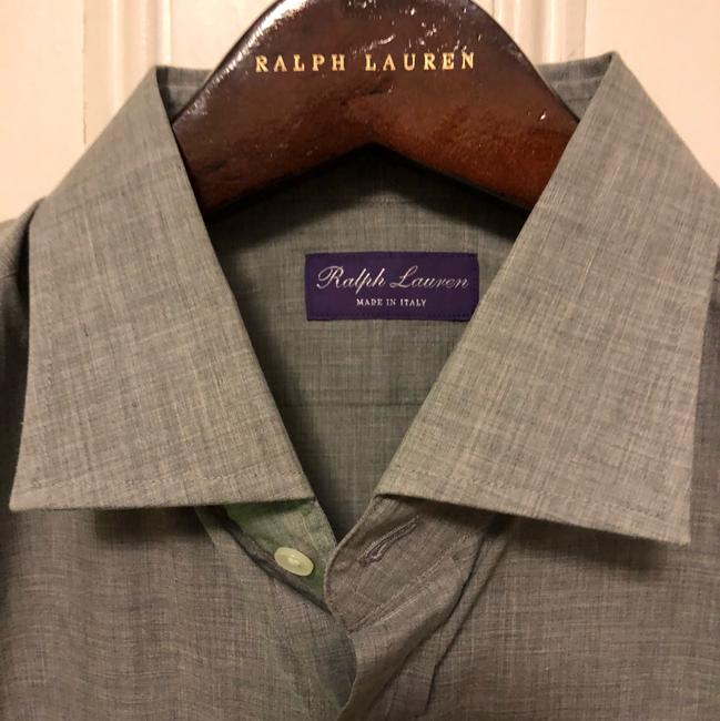 Polo Ralph Lauren Purple Label Mens Keaton Dress Shirt Italy Gray Size 17.5 Top gray Image 2