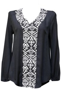"LoveRiche Anthropologie Sleeves 23.5"" Length @ Rear 28.25"" Top Black"
