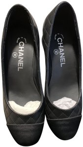 Chanel Quilted Black Flats