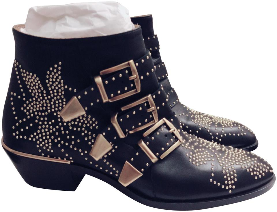 fc315e95 Chloé Black & White Suzanna 30mm Boots/Booties Size EU 37 (Approx. US 7)  Regular (M, B)