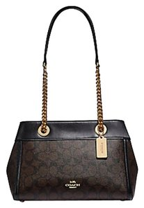 Coach Carryall 34797 36704 Christie Satchel in multicolor brown black