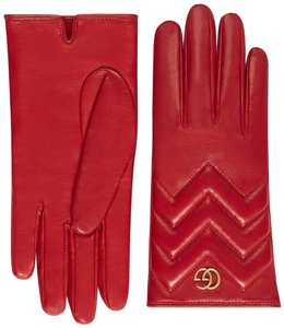 Gucci GG Marmont Chevron Gloves Size 7.5