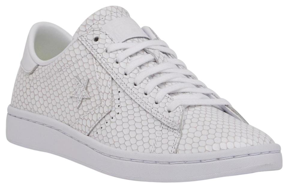 65b621bb405c white leather converse low. Converse White Pro Leather Lp Snake Low Top  Sneakers ...
