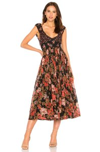 Black Maxi Dress by Free People Floral Midi Night Out