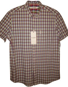Ben Sherman Men's Button Down Shirt Plaid