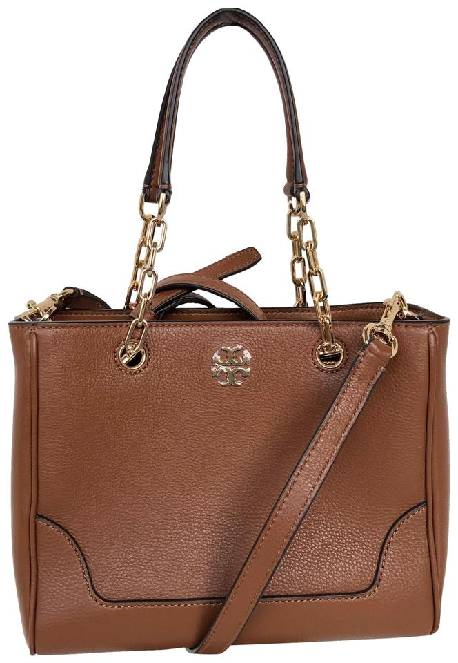 37c80eaec05 Tory Burch Small Marsden Convertible Crossbody Nut Leather Tote ...