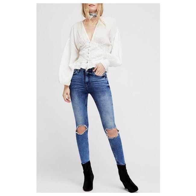 Item - Blue Distressed High Waisted Skinny Jeans Size 2 (XS, 26)