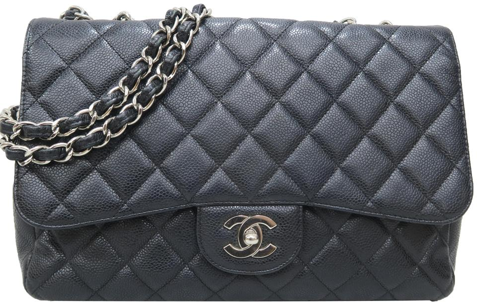 d1d19998be6505 Chanel Classic Flap Classic Jumbo Single Black Caviar Shoulder Bag ...