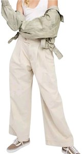 Free People Wide Leg Pants Tan