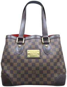 Louis Vuitton Lv Brown Hampstead Tote in Ebene