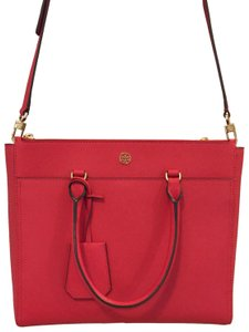 210775a3f45 Tory Burch Robinson Style 46332 0218 Poppy Red Leather Satchel - Tradesy