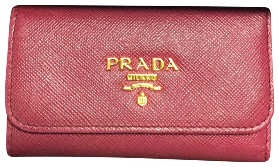 a00fb8bbaf3c6c ... real prada key holder 8b9ab e4e8d closeout gold leather key wallet ...