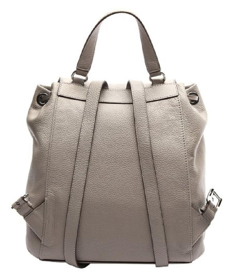 1ea5b2278cef Michael Kors Riley Ash Grey Leather Backpack - Tradesy