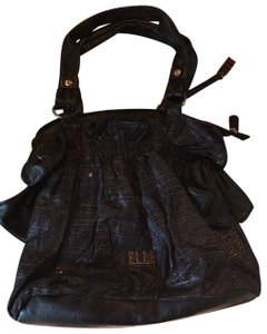 Elle Satchel in Black with Silver