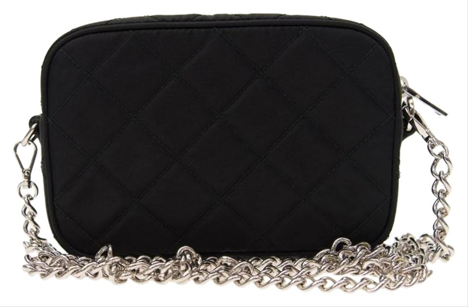 b01c07f4bdc3e4 Prada Shoulder Tessuto Small Nero Quilted Black Nylon Cross Body Bag ...