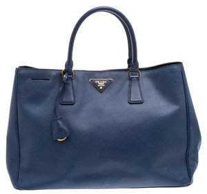 Prada Leather Metal Tote in Nylon