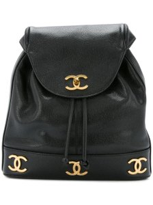 Chanel Vintage Gold Hardware Rare Monogram Backpack