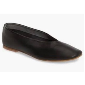 Topshop Leather Ballet Black Flats