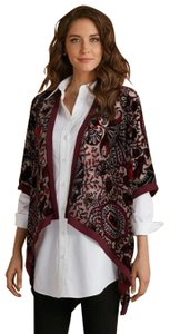 Soft Surroundings Velvet Kimono Topper Jacket Cape